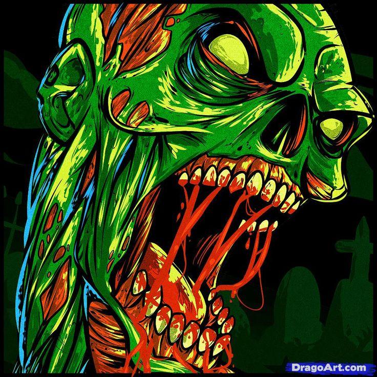 Zombie Cartoon Drawings | how to draw a zombie tattoo, zombie tattoo