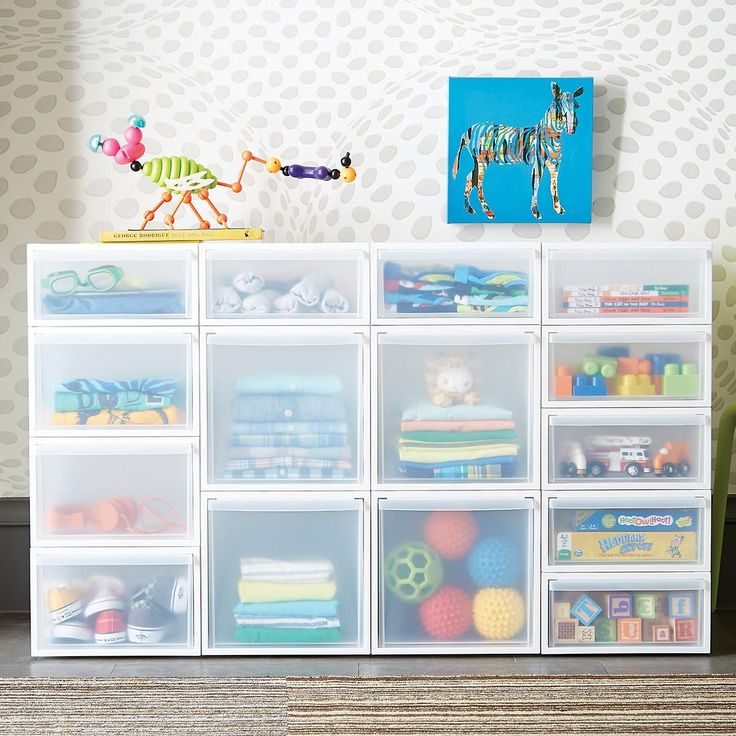 """Enjoy free shipping on all purchases over $75 and free in-store pickup on the Like-it White Modular Drawers at The Container Store. Our innovative Like-it Modular Drawers are engineered to be stacked together in virtually any combination!  Choose from three widths (narrow, medium, wide) and two heights (short and tall).  Combine them vertically or horizontally to organize any area of your home - you can even add wheels!  These drawers also coordinate with our <a href=""""/s&#x2..."""