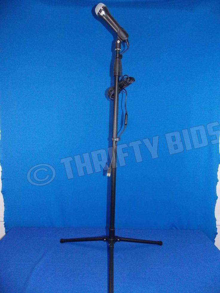 Beatles Rock Band Microphone M/N E-UR20 & Mic Stand for Microsoft Xbox 360 FreeS #LogitechRockBand