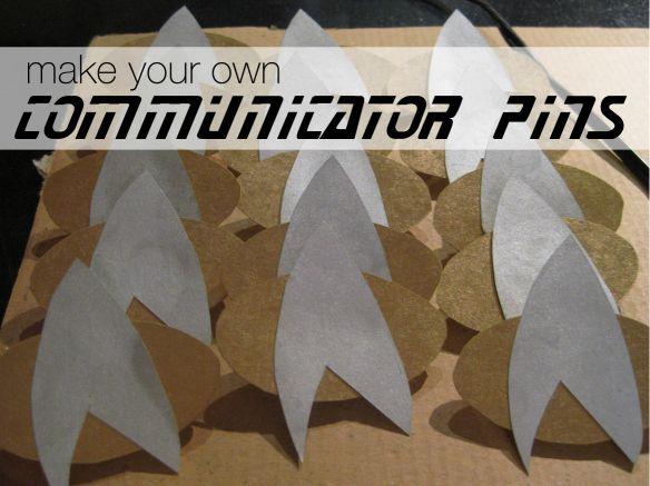DIY star trek communicator pins