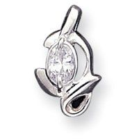 Sterling Silver CZ Pendant With Chain - 18 Inch - Lobster Claw - JewelryWeb JewelryWeb. $34.10. Save 50% Off!