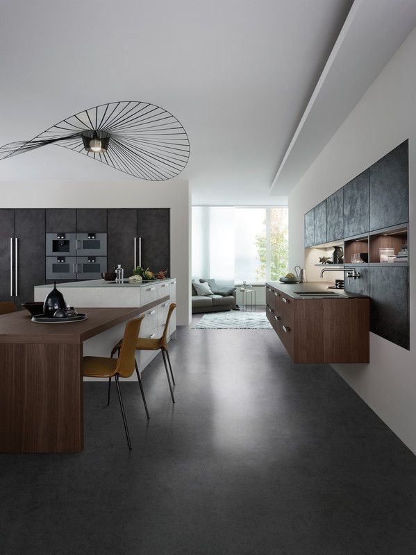 Kitchen front are filled with fine concrete in a highly skilled process to achieve the characteristic concrete surface.
