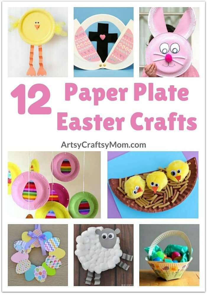 Get your kids in the spirit of Easter and spring with these simple and adorable paper plate Easter Crafts! via @artsycraftsymom