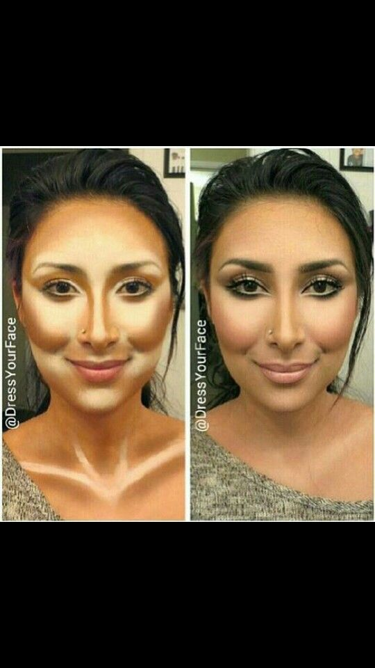 Contour makeup for Middle Eastern/Arabian, Native American & Spanish