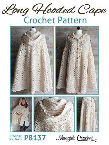 Crochet Pattern Long Hooded Cape PB137, http://www.amazon.com/dp/B00LH117X0/ref=cm_sw_r_pi_awdm_oPRVtb0DYW77T
