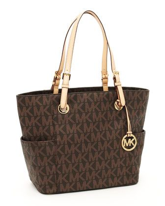 next gift to myself...MICHAEL Michael Kors  Logo-Print Signature Tote.
