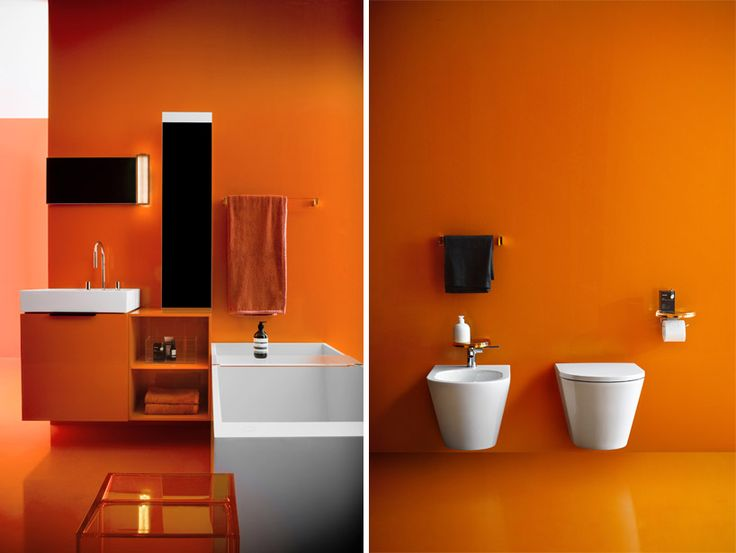 Be bold and reflect the colours of summer in your @laufenbathrooms.