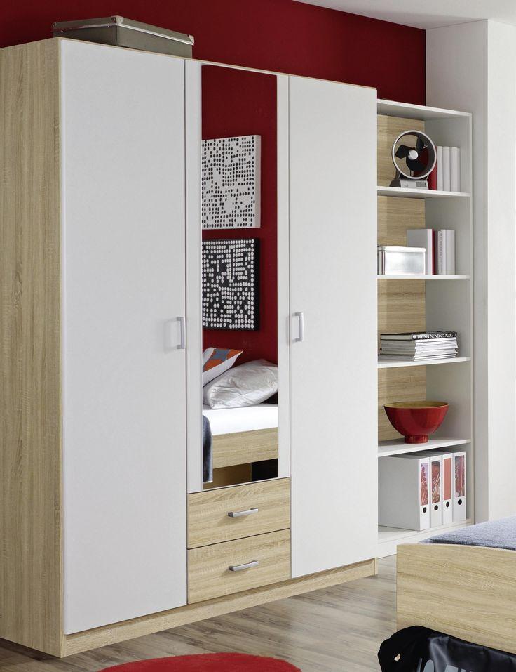 Die besten 25+ Kleiderschrank schiebetüren spiegel Ideen auf - schlafzimmerschrank weiß hochglanz