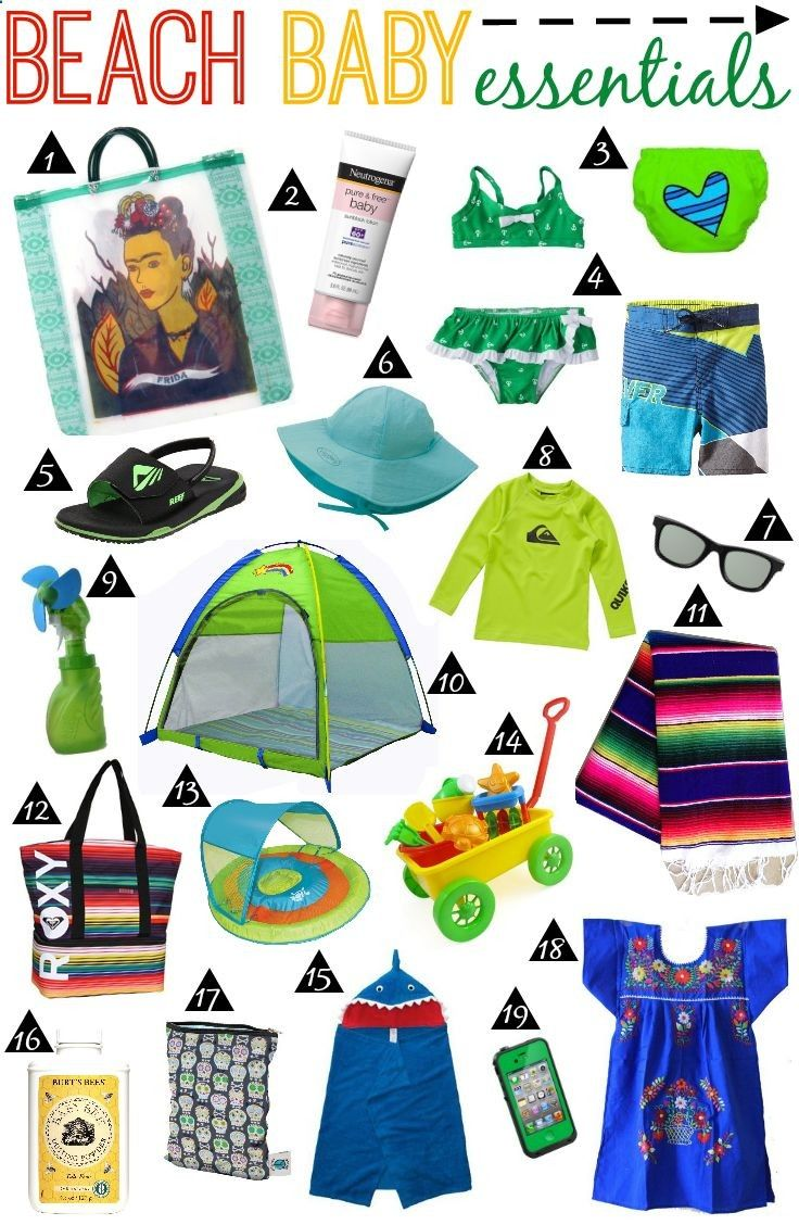 Beach Baby Essentials (I'm not a big fan of the beach but this baby is ADORABLE!)