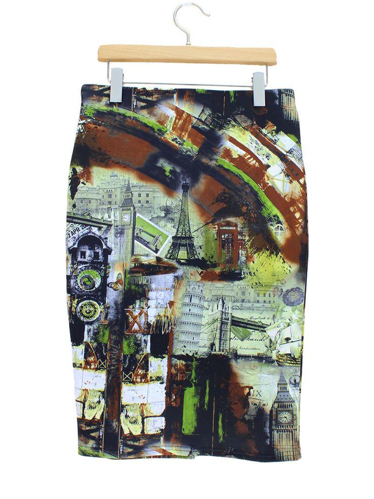 Биг бен и эйфелева башня печать париж мода стиль женщины юбка 2015 новый новый шаблон летом юбки карандаш бесплатная доставка купить на AliExpress