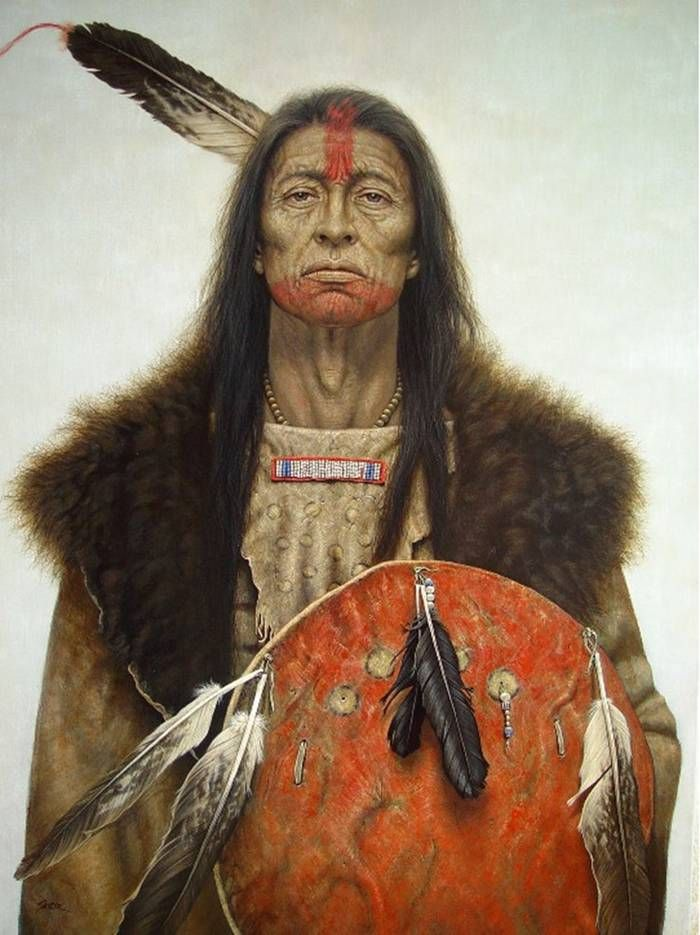beautiful native american portrait paintings | Prafulla.net- Art - Native American Indian Portraits Paintings by  Kirby Sattler...