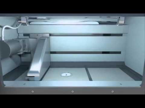 EOS Direct Metal Laser Sintering 3D printer in action.
