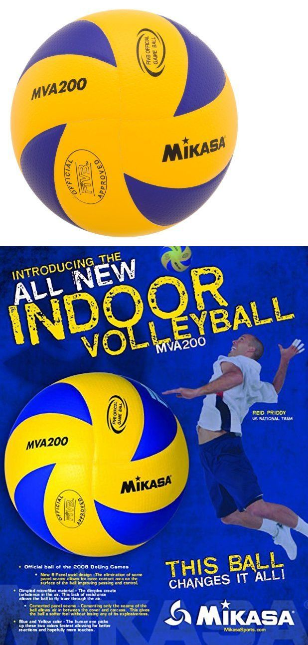 Volleyballs 159132: Mikasa Mva200 2016 Rio Olympic Game Ball (Blue/Yellow) BUY IT NOW ONLY: $47.65