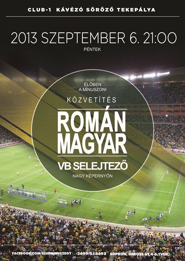 Romania - Hungary soccer flyer by darellart.hu