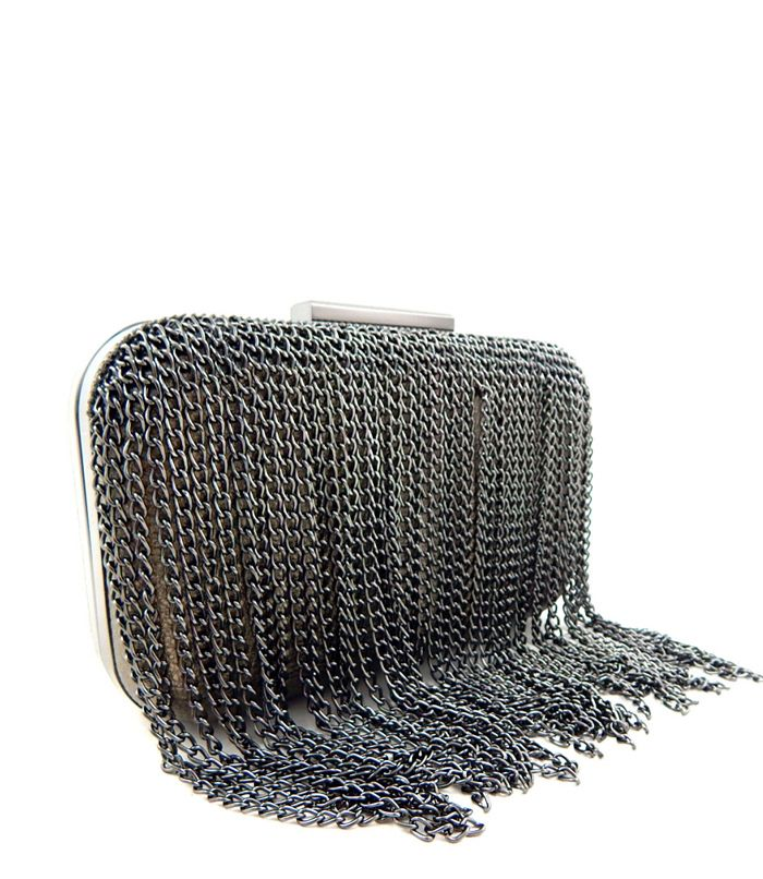 Chain Clutch Purse Pewter - Abfabulous Fashion