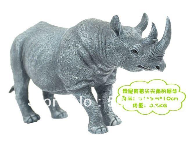 Пластик носорог рисунок животное модель игрушки образовательный игрушки great весело дикие животное сп-аукцион