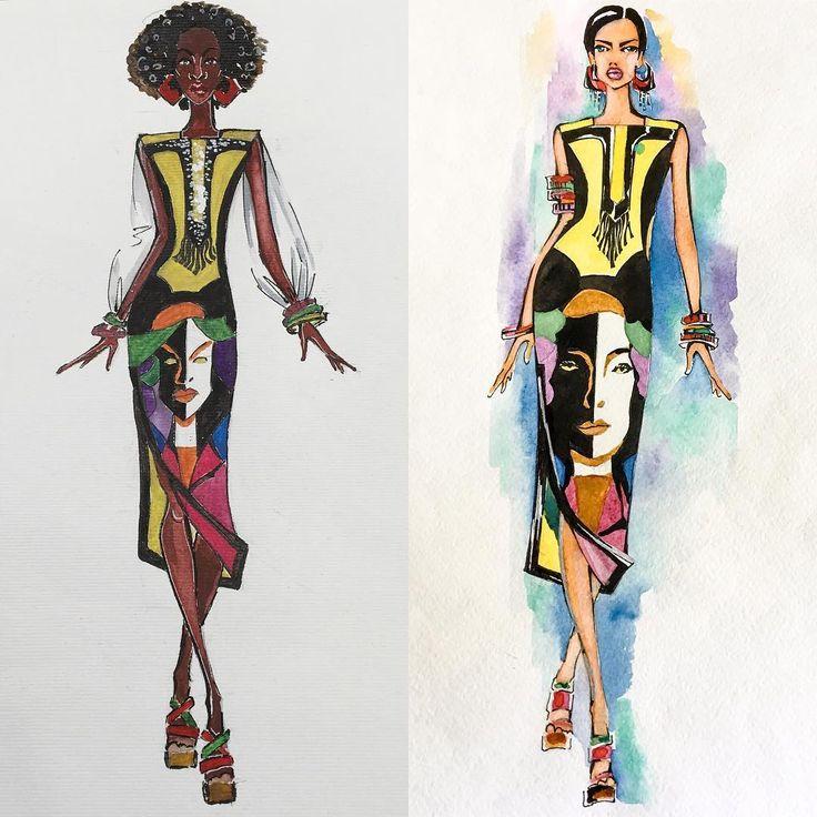 этнические костюмы рисунки два абсолютно