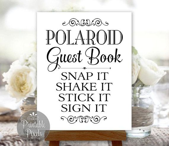 Polaroid Guest Book Station: 1000+ Ideas About Polaroid Guest Books On Pinterest