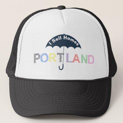 Portland Real Estate Homes Black Baseball Cap Hat - diy cyo personalize design idea new special