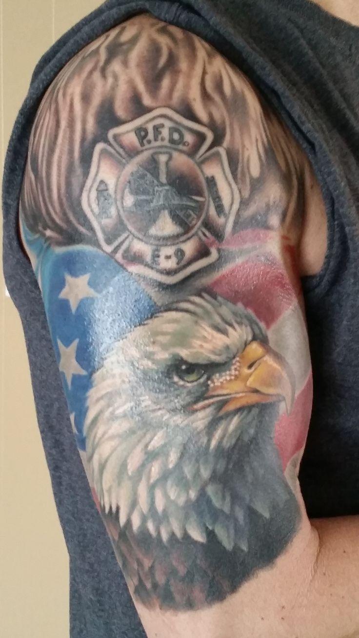 Fi fireman tattoo designs - My Finished Tat Sweet