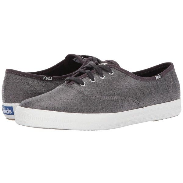 Keds Champion Lurex (Slate) Women's Shoes (165 BRL) ❤ liked on Polyvore featuring shoes, laced shoes, round cap, round toe shoes, lace up shoes and keds shoes