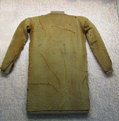 Thorsberg - germanic tunic found in moor made in ca 4th century. Now located in Gottorp Palace, Schleswig, Germany