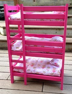 Simple doll bed plans tipple bunk | Triple Doll Bunk Bed | Do It Yourself Home Projects from Ana White
