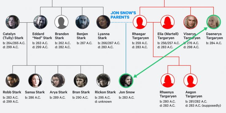 Daenerys is Jon's aunt, but that can be a bit confusing. So we've broken down their family trees and laid it out for fans.