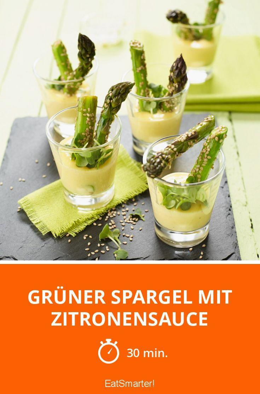 Dieses Spargel-Rezept mit Zitronensauce eignet sich super als kleiner Snack oder Vorspeise für alle Spargel-Fans!