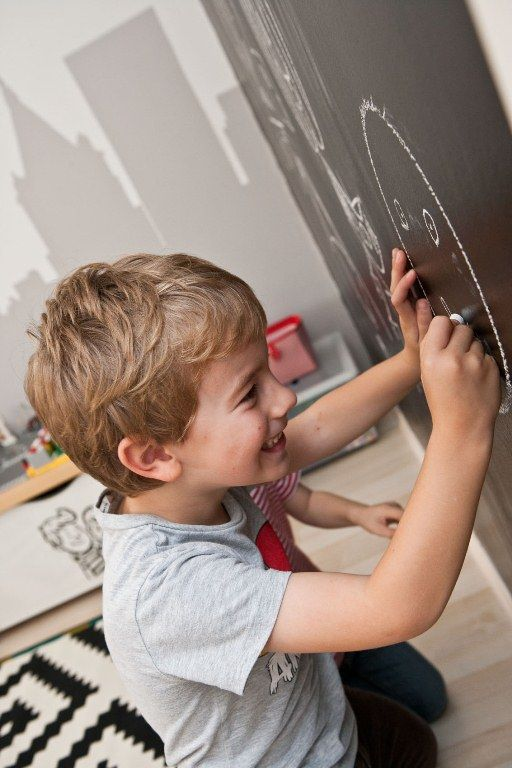 home, kedvencotthon, interiordesign, interiorstyling, kidsroom, walldecor, chalkboard black wall (photo: Milán Tóth)