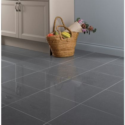 Grey Polished Porcelain Tiles- 30 x 60cm - 5 Pack