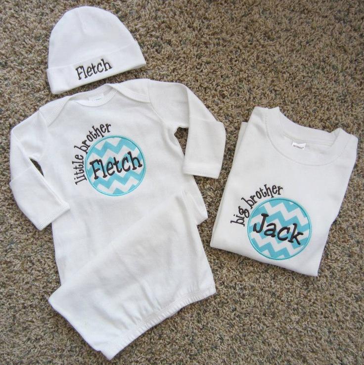 Little Brother Newborn Layette w/ Hat & Big Brother Shirt. $48.00, via Etsy - Přes 25 Nejlepších Nápadů Na Téma Big Brother Style Na Pinterestu