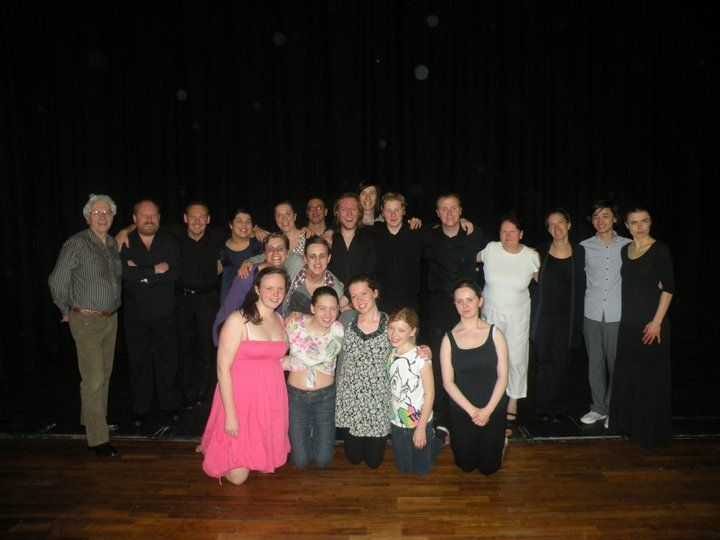 The cast and director of Macbeth, which we helped to produce.
