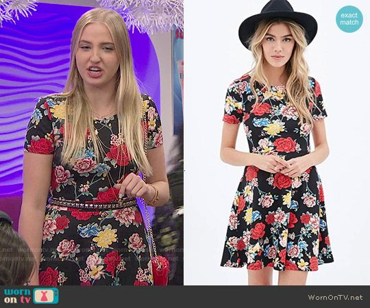 Marisa's floral short sleeved dress on KC Undercover.  Outfit Details: http://wornontv.net/51614/ #KCUndercover