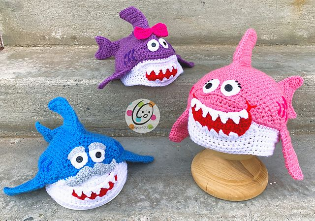Ravelry: Baby Shark amigurumi pattern by Ami Little Creature ... | 449x640