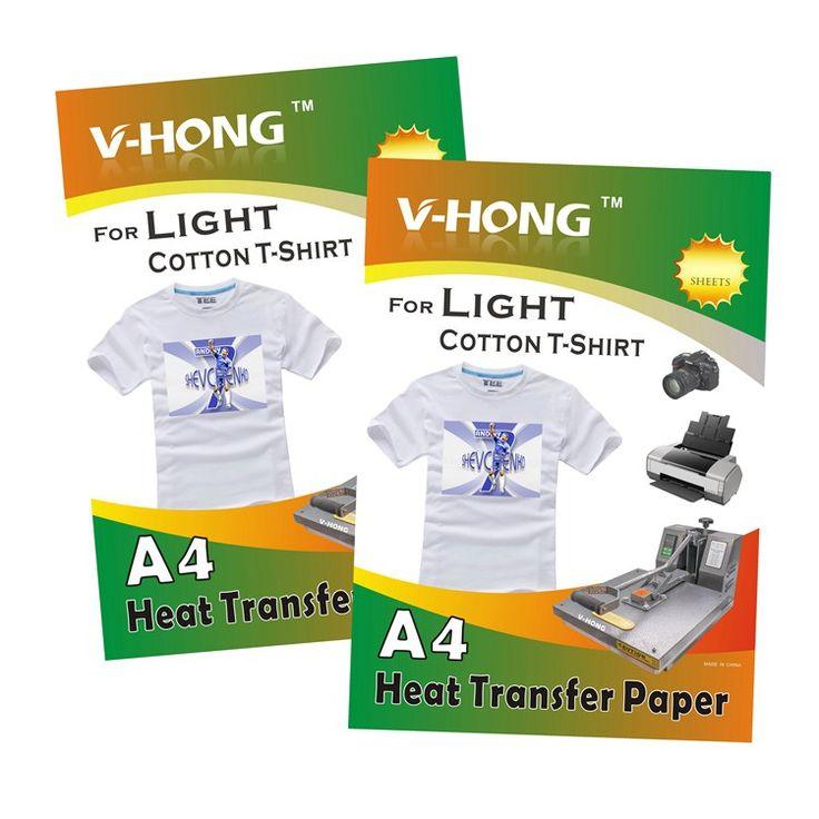 Buy online US $18.00 20 sheets white color cotton T-Shirt A4 light sublimation Paper white color cotton heat transfer paper #sheets #white #color #cotton #TShirt #light #sublimation #Paper #heat #transfer #paper #Internet