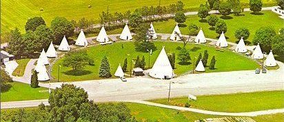 Motel stop #1. Wigwam Village - in the morning it's off to Dinosaur World before 6 more hours of driving :)