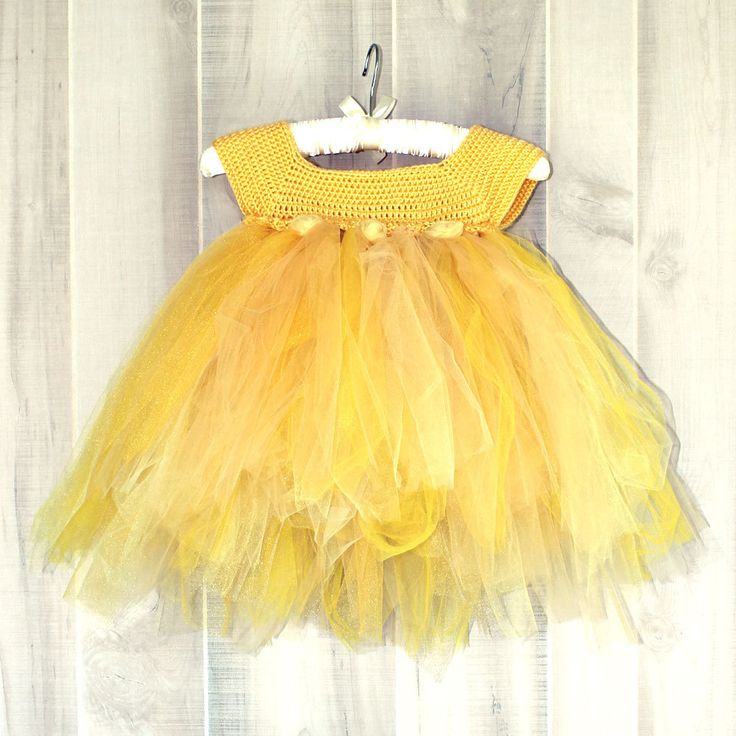 New to OyoPOP on Etsy: Princess Belle Dress Disney Costume Yellow Tulle Birthday Dress (50.00 USD)