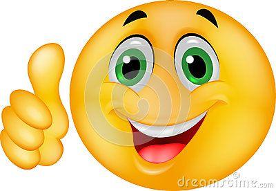 Visage souriant heureux d émoticône