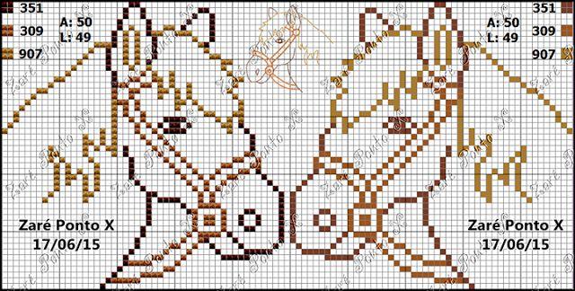 Χειροτεχνήματα: Σχέδια με άλογα για κέντημα / Ηorse cross stitch patterns