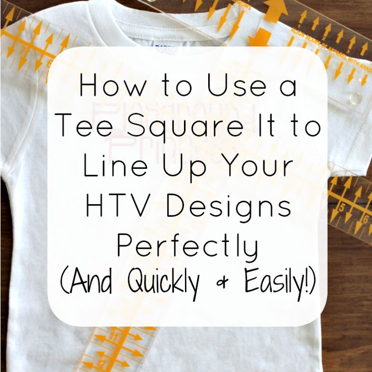 A guide that will show you how to perfectly, quickly, and easily line up your heat transfer vinyl, iron on, or rhinestone design with the Tee Square It.
