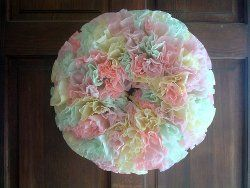 I Dip and Dye Coffee Filter Wreath - change up colors to be patriotic for 4th or red and green for Christmas