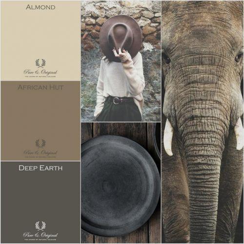 Kleurenkaart voor kalkverf en krijtverf kleuren pure for Interieur verf kleuren