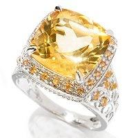 You are pretty.  Citrine and orange sapphire