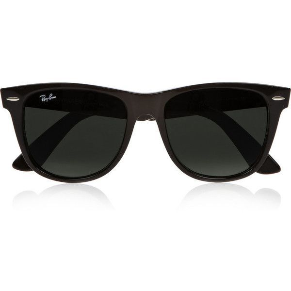 Ray-Ban Wayfarer acetate sunglasses ($190) ❤ liked on Polyvore -  Sale! Up to 75% OFF! Shot at Stylizio for women's and men's designer handbags, luxury sunglasses, watches, jewelry, purses, wallets, clothes, underwear & more!