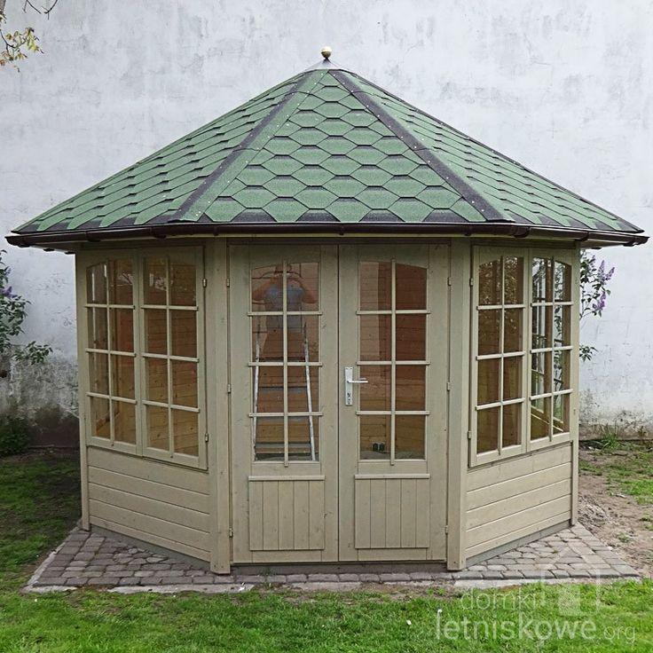 Drewniana altana ogrodowa (Garden pavilion) Emma 4F 8,9 m2