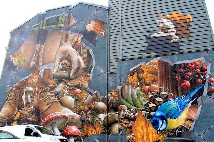 """Street Art Glasgow - """"Fellow Glasgow Residents"""" , autor: Smug"""