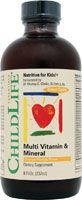 Childlife Multi Vitamin and Mineral Natural Orange Mango. Gluten free and no artificial sweeteners or artificial colors or flavor. $9.49 8 fl oz.