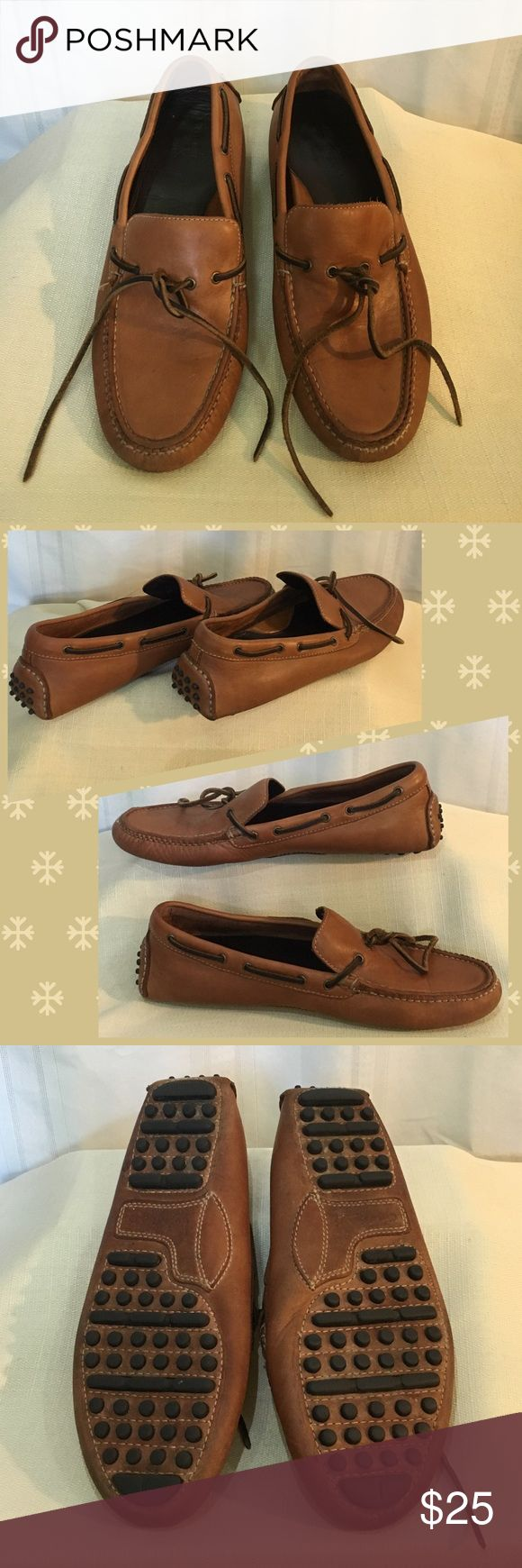 Cole Haan Gunnison Brown Driver Loafer (Nike Air) Super soft leather loafers with Nike Air insoles. Front leather tie and rubber soles. Shoes are broken in, but leather and soles are in good condition. Cole Haan Shoes Loafers & Slip-Ons