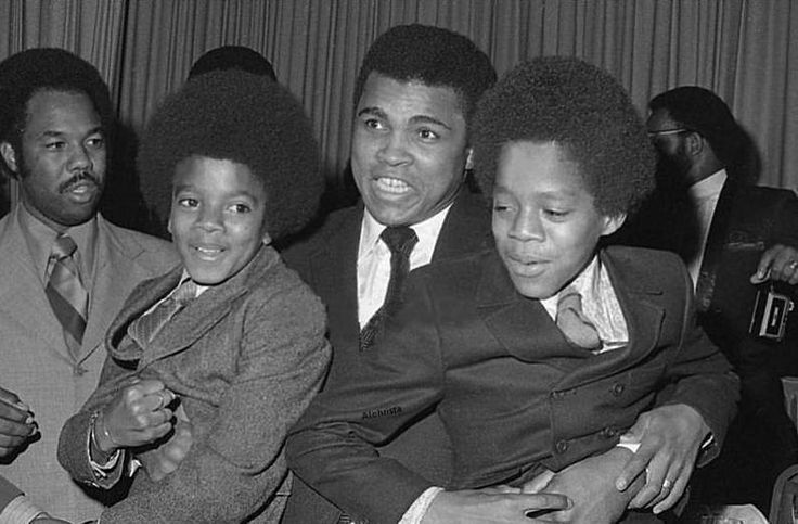 Muhammad Ali With Young Michael Jackson Greeting Card for Sale by Brian Douglas